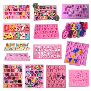 Silicone-Letter-Number-Cake-Mould-Mat-Fondant-Sugar-Craft-Mold-Decorating-Tools