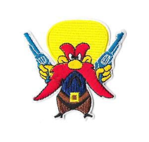 YOSEMITE-SAM-Iron-on-Sew-on-Patch-Embroidered-Badge-Cartoon-Motif-PT410