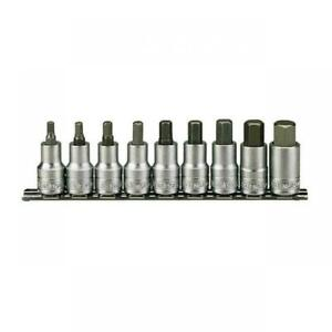 Teng-Tools-1-2-034-Chiave-Esagonale-Allen-Bit-Socket-Set-5mm-17mm-su-Socket-Rail