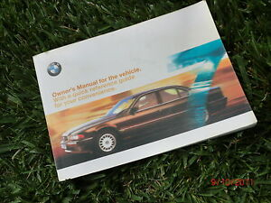 1999 2001 bmw e38 original owner owner s manual book 740il 740i 740 rh ebay com 2001 bmw service manual 2001 bmw 325xi owners manual