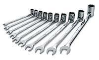 SK Tools 86142 10 Piece Flex Metric Combination Wrench Set