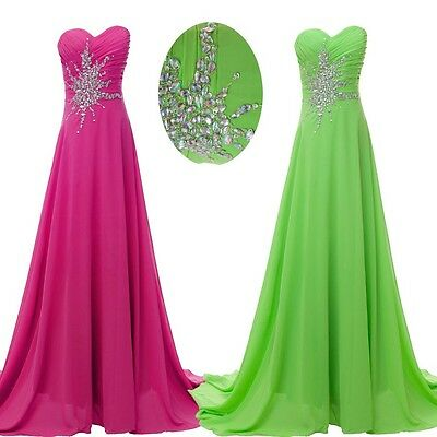 2016 MAXI BEADED Long Dress Prom Evening Gown Ball Party Bridesmaid Formal Plus