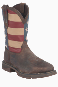 26190d43072 Details about Durango Rebel Men's American Flag Pull On Steel Toe EH  Western Boot DB020