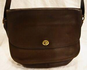 5922c8da14 Coach Vintage Brown Leather City Bag Shoulder Bag Crossbody Purse ...