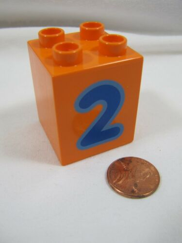 LEGO DUPLO NUMBER 2 Train Replacement 2 x 2 x 2 BLOCK Building Brick Part
