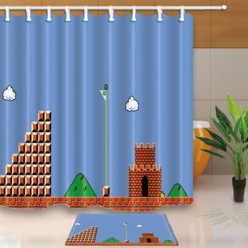 Le jeu classique carte tissu imperméable Home Decor Rideau de Douche Salle De Bain Tapis