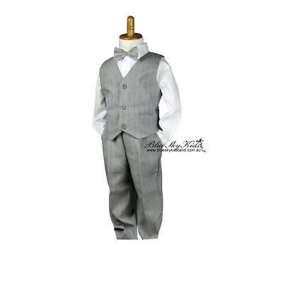 NEW Formal Toddler Children Boy Kid Shorts size 000-6 in BLACK WHITE CHARCOALl