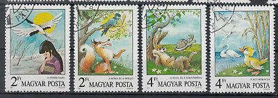 Briefmarken Ungarn 1987 Märchen U.fabeln Mi.3937-40 Gestempelt Kataloge Werden Auf Anfrage Verschickt Ungarn Briefmarken