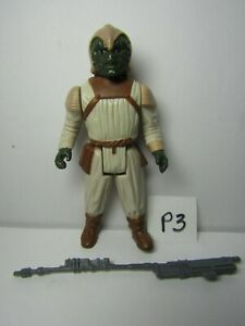 Vintage-loose-1983-Star-Wars-le-retour-du-jedi-Klaatu-Skiff-Guard-Figure-complete
