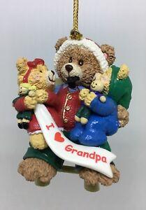 I LOVE GRANDPA Grandfather Teddy Bear Christmas Tree ...