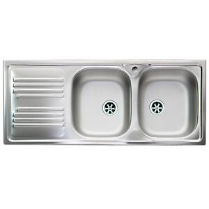Lavello cucina acciaio inox Apell Atmosfera 116x50cm con ...