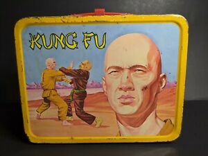 Vintage-1974-Kung-Fu-David-Carradine-King-Seeley-Metal-Lunch-Box