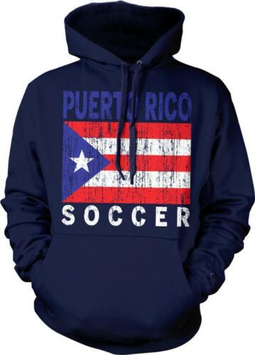 Puerto Rico Flag Soccer Futbol Puerto Rican Pride Bandera Hoodie Pullover
