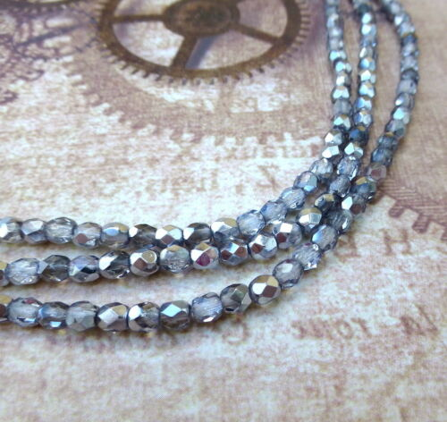 Fabrication de bijoux perles Facettes Perles de verre Feu Poli Tchèque Perles De Verre