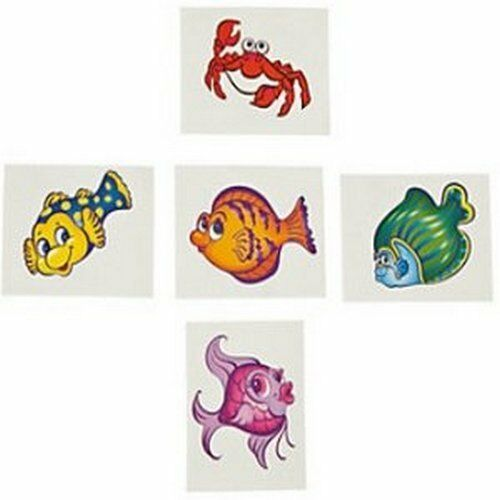 Tropical Fish Temporary Tattoos Wizard Party Bag Fillers Pack Sizes 6-36