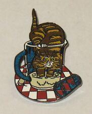 VINTAGE GARY PATTERSON CAT MUG PIN