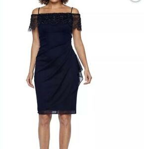 73410252c Image is loading Dj-Jaz-Embellished-Navy-Blue-Dress-Size-6-