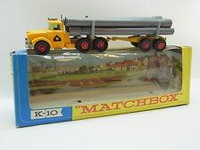 LOT 40464 | Matchbox Kingsize K-10 Pipe Truck LKW mit Anhänger graue Röhren Box