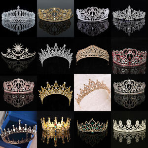 Wedding-Bridal-Women-Prom-Pageant-Birthday-Hair-Tiara-Crown-Princess-Headband