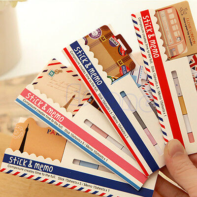 Cute Funny Joy Post It Sticker Bookmark Memo Marker Point Flags Sticky Notes New