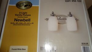 Details About Hampton Bay Newbell 2 Light Vanity Chrome Finish Fixture 1001 255 122