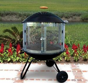"28"" Portable Outdoor Bon Fire Pit, New! Patio Campfire ..."