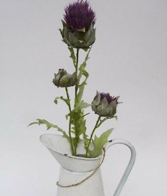 Artificial purple teasel cone thistle flower wild flower wedding bouquets gifts.