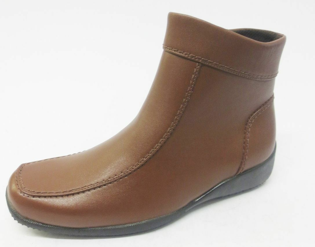 LADIES EAZE BROWN ANKLE BOOTS F5350 SALE !!