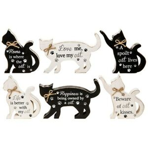 Perfect-Pals-Small-Standing-Wooden-Cat-Plaque-Sign-Ornament-Cute-Gift