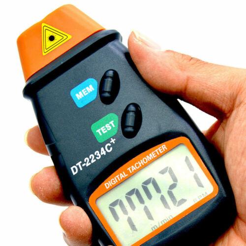 Handheld Digital LCD Display Laser Tachometer RPM Test Engine Motor Speed Gauge