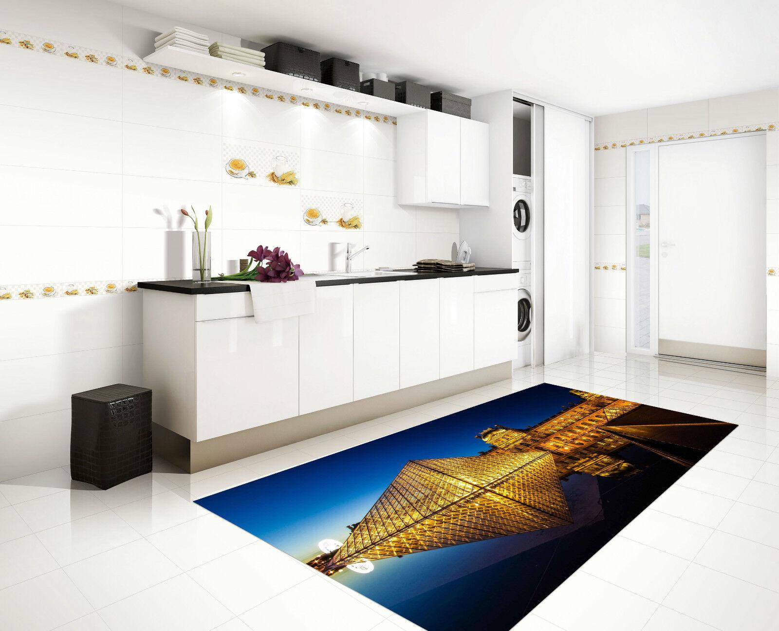 3D Bright Louvre Kitchen Mat Floor Murals Wall Print Wall Deco AJ WALLPAPER CA