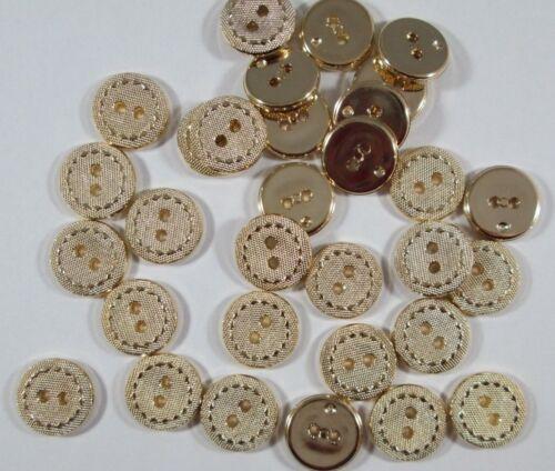 Knopf Knöpfe  30  stück  Gold   knöpfe  15,5  mm groß   #2247#