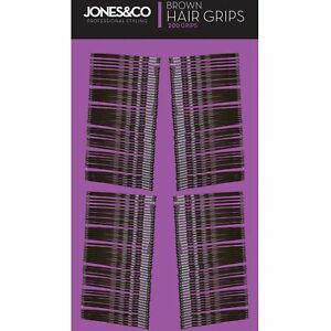 200-x-Brown-Hair-Style-Grip-Clips-Kirby-Bobby-Pin-Clamps-Salon-Style-Slides