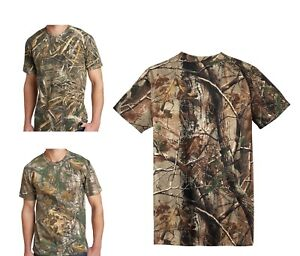 Camuflaje Algodón Russell Realtree 5 Hombre Ap Camiseta Max Extra 8Fw5FqB