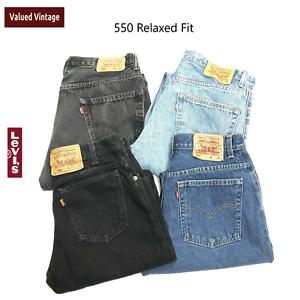 Vintage-Levis-550-hoch-taillierte-Damen-Klasse-entspannter-Mom-Jeans-29-30-31-32-34