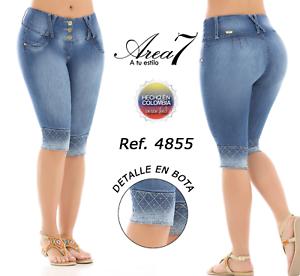 Colombian Capri Push Area Colombianos Up Jeans Cola Levanta Capris 7 Authentic wYAnHAr8Xq