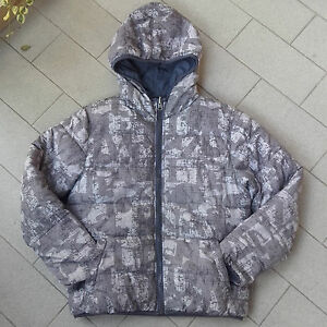 Piumino-bomber-dubleface-sarabanda-grigio-militare-camouflage-camu-giacca-bambin