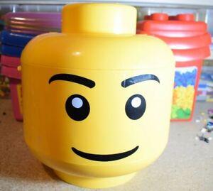 Scatola di immagazzinaggio LEGO TESTA Grande Medio Piccolo selezionare la casella e...