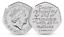 Uncirculated-50p-Pence-2020-BREXIT-EU-Peace-Prosperity-amp-Friendship-Nations-EEC miniatuur 1