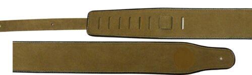 Länge bis147cm GITARRENGURT,Band38 echtes Wild-Leder BRAUN Breite7cm-strap!