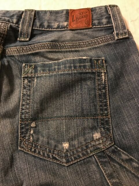 Lucky Brand Women's Jeans Little Maggie Carpenter Destroyed Size 0 Or 25 X 33