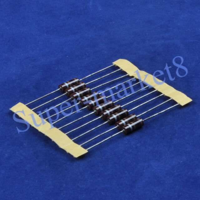 10pcs 100 Ohm 100R 1/2W Carbon Comp Composition Resistor ALLEN Style