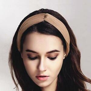 ca0c278c92be7 Womens Headband Twist Hairband Bow Knot Cross Tie Velvet Headwrap ...