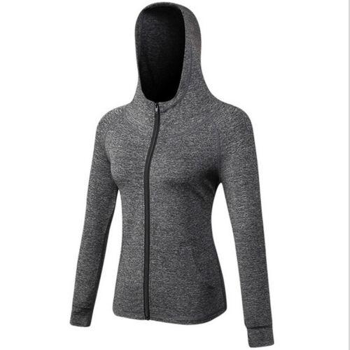 Women/'s Autumn Long Sleeve Casual Sportwear Hooded Hoodies Sweatshirt Zip Coat