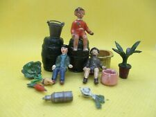 TAYLOR & BARRATT PRE WAR COSTER CART PIECES WITH SMALL BOY