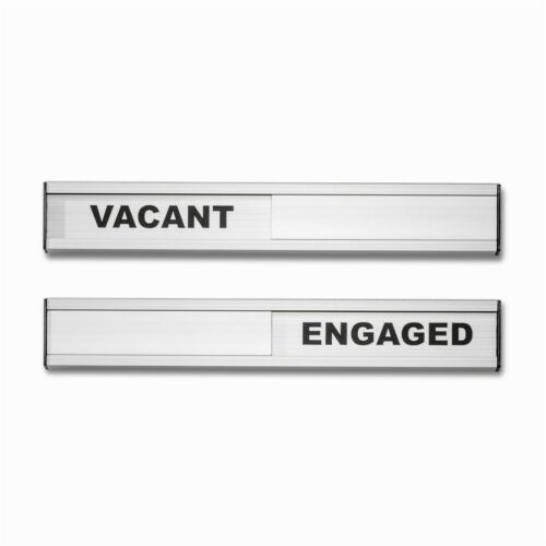 Aluminium Vacant Engaged Door Sliding Entry System Plaque Sign