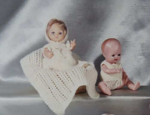 """para el /""""Tiny Baby Rosebud Dol/"""" L 6 1//2/"""" TS//1 conjunto de punto Bautizo."""