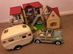 Sylvanian Families Beechwood Hall Caravan Car Annex Accessory Toy