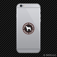 Danger Farting Spinone Italiano Cell Phone Sticker Mobile Die Cut