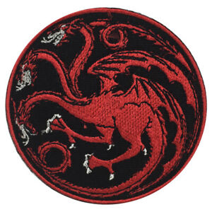 Targarian Circle Movie Patch Iron On Sew On Badge Embroidered Patch